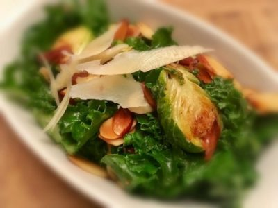 Kale, Brussel Sprout and Almond Salad - Physio Direct NZ
