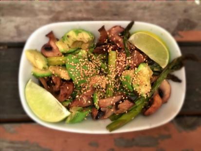 Pan Seared Mushroom and Avocado Salad - Physio Direct NZ