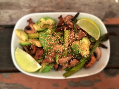 Pan Seared Mushroom and Avocado Salad - Physio Direct NZ