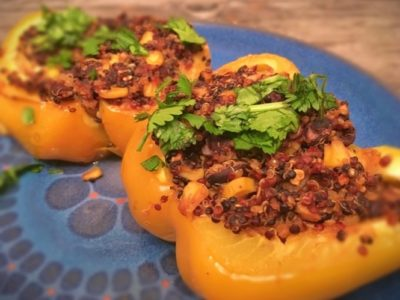 Quinoa & Mushroom Stuffed Capsicums - Physio Direct NZ