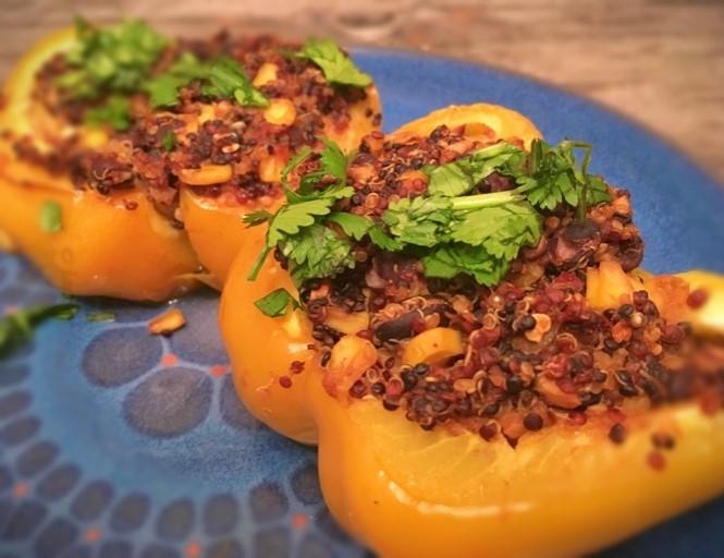 Quinoa & Mushroom Stuffed Capsicums - Physio Direct NZ