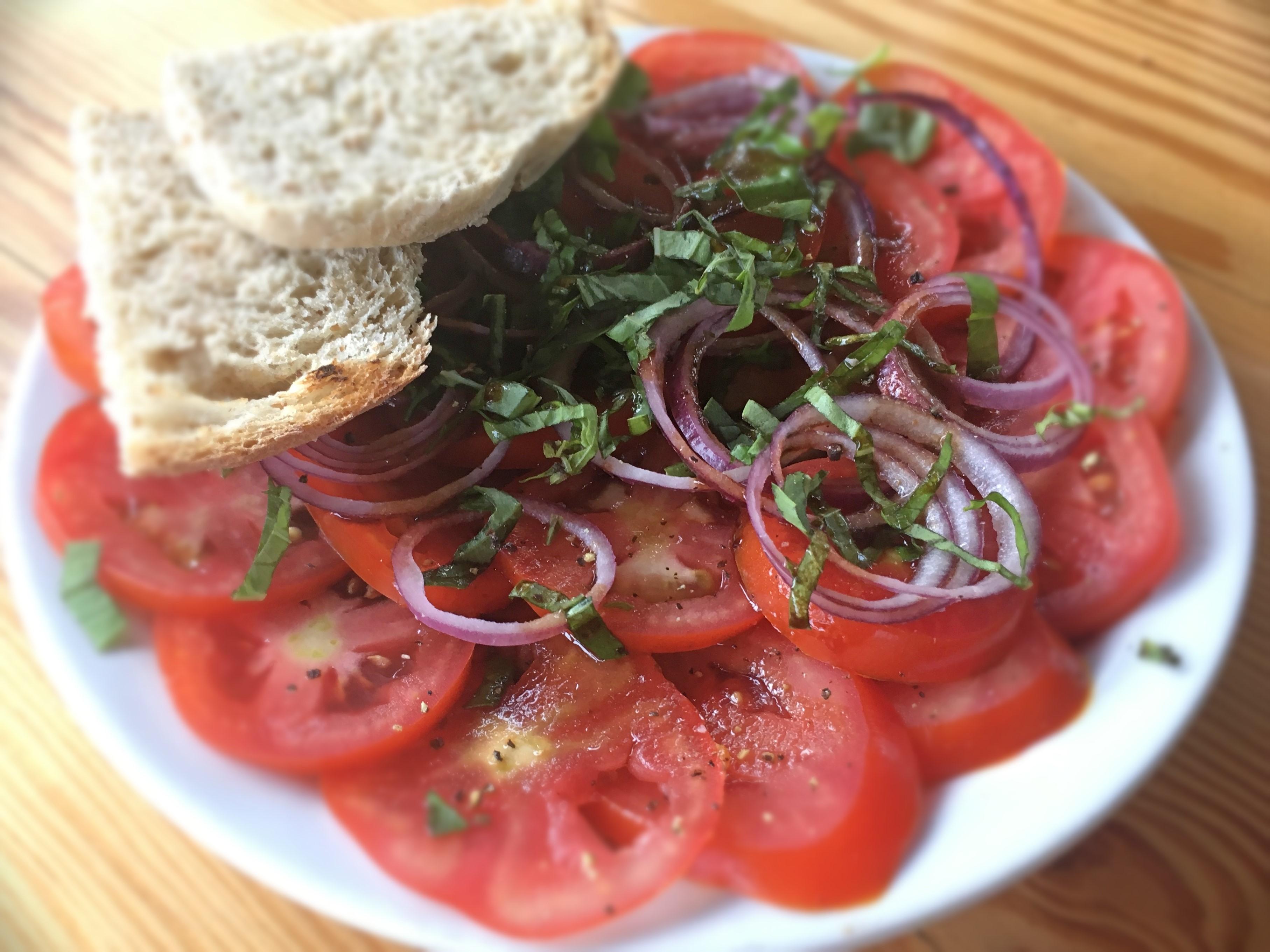 Marinated Basil and Tomato Salad - Physio Direct NZ