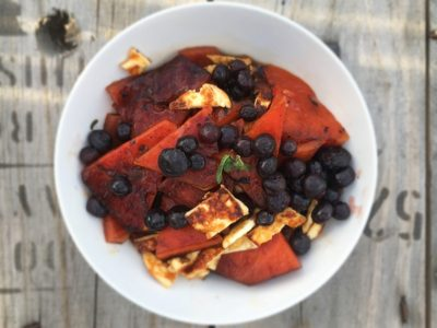 Haloumi, Blueberry and Watermelon Salad - Physio Direct NZ