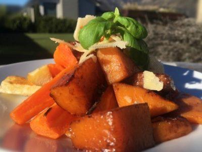 Balsamic Glazed Pumpkin with Parmesan & Basil - Physio Direct NZ