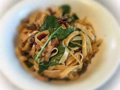 Vegetarian Fettucine Carbonara - Physio Direct NZ